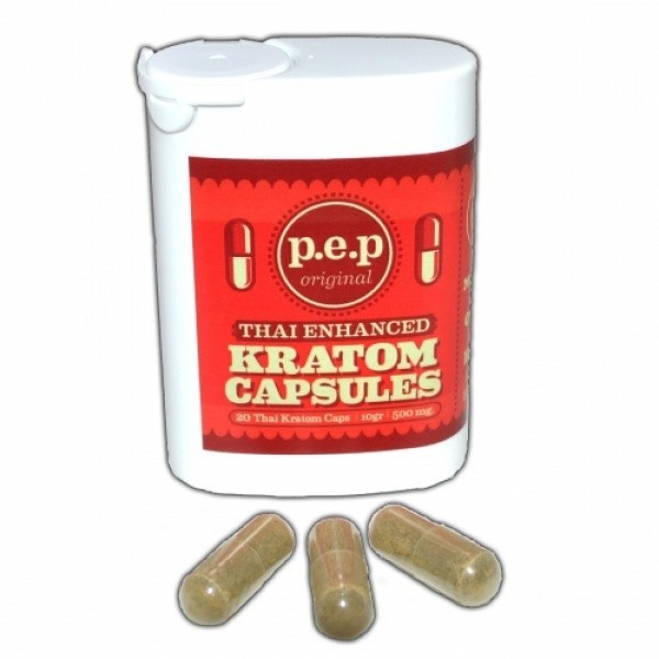 Thai Enhanced Kratom Capsules (rood)